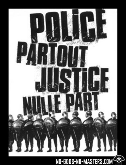 Police partout justice nulle part - T-shirt ACAB anti-violence-policiere