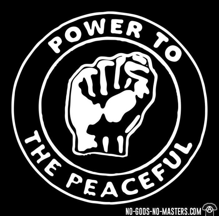 Power to the peaceful - T-shirt féminin anti-guerre