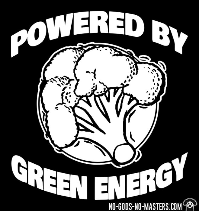 Powered by green energy - T-shirt véganes et libération animale