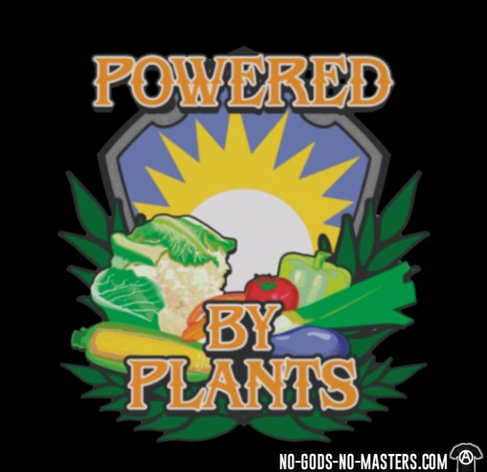 Powered by plants - T-shirt véganes et libération animale
