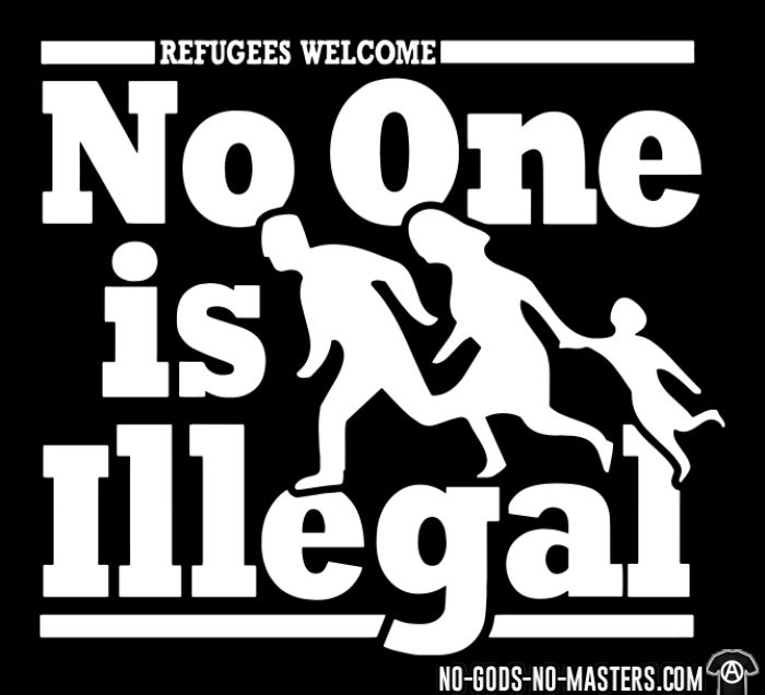 Refugees welcome - no one is illegal - Sweat à capuche (Hoodie) Anti-Fasciste