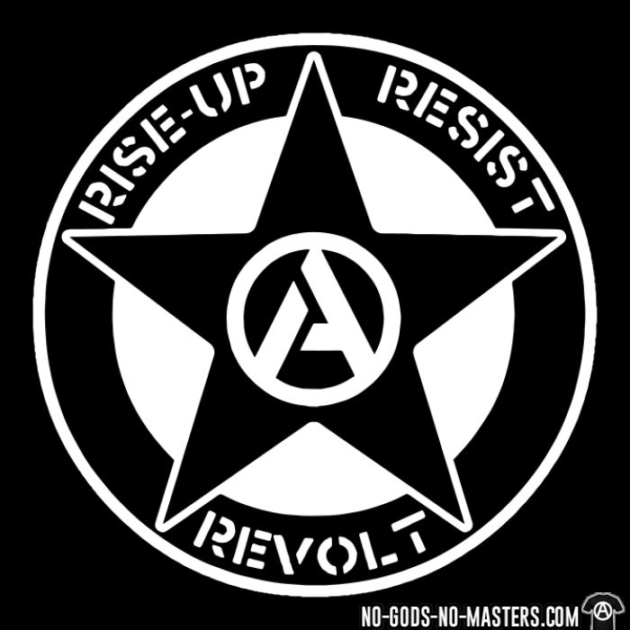 Rise-up resist revolt - Sweat zippé Militant