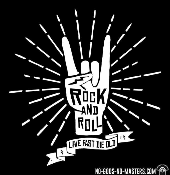 Rock and roll - live fast die old - T-shirt Punk