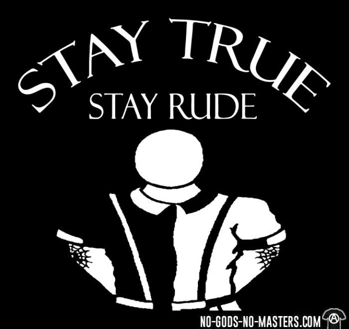 Stay true stay rude - Chandails à manches longues Skinhead