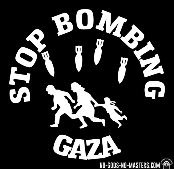 Stop bombing Gaza - T-shirt anti-guerre