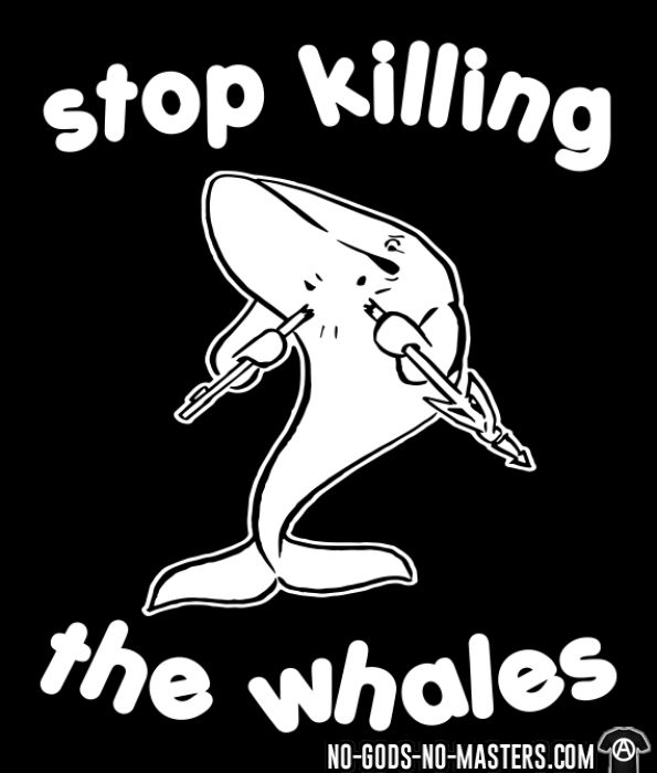 Stop killing the whales - T-shirt véganes et libération animale