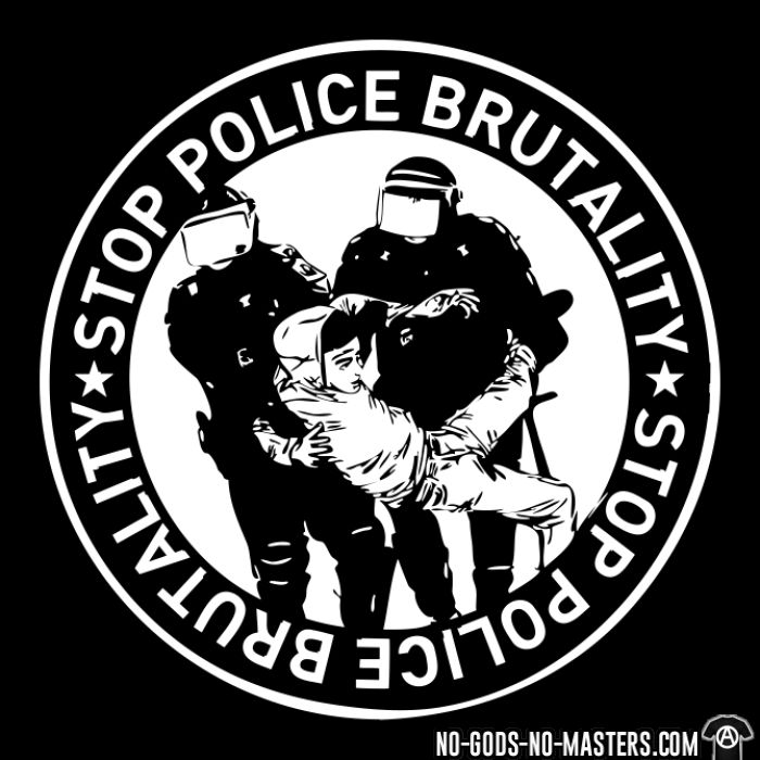 Stop police brutality - T-shirt organique ACAB anti-flic