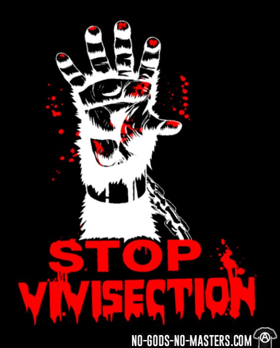 Stop vivisection - T-shirt véganes et libération animale