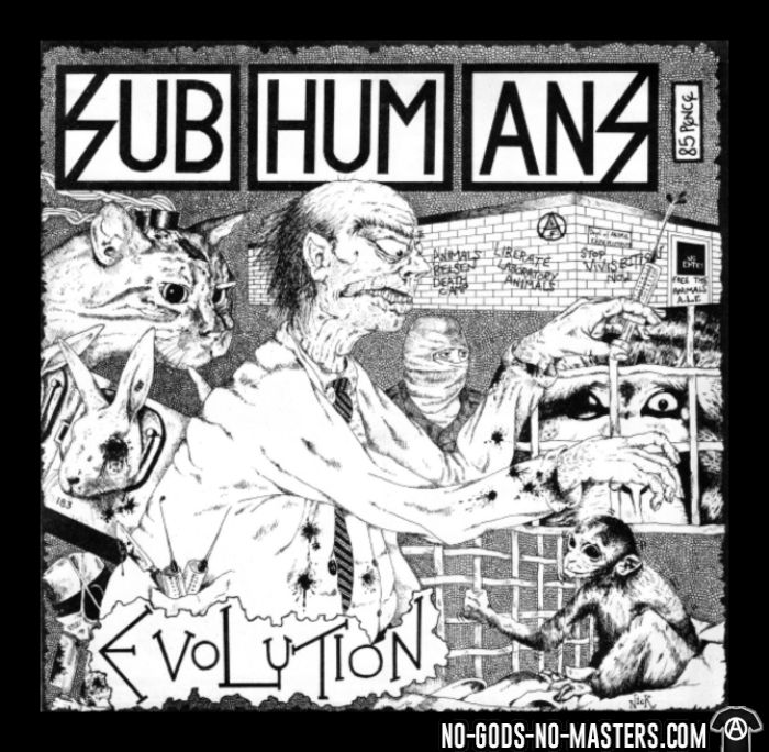 Subhumans - evolution - T-shirt Band Merch