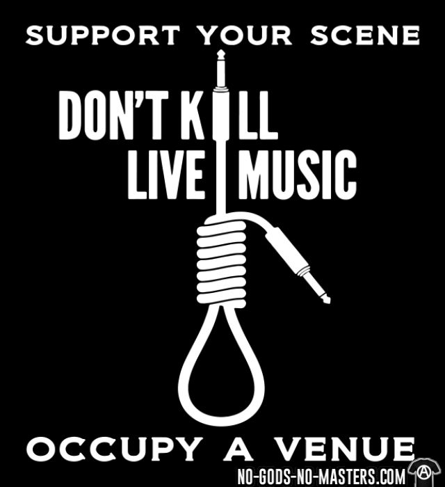 Support your scene. Don't kill live music. Occupy a venue - Sweat à capuche (Hoodie) Punk