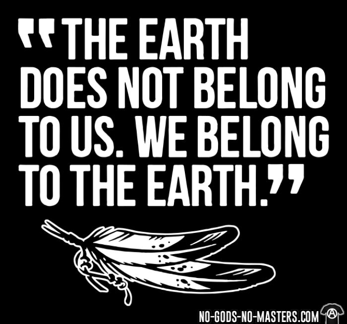 The earth does not belong to us. We belong to the earth. - T-shirt Environnementaliste