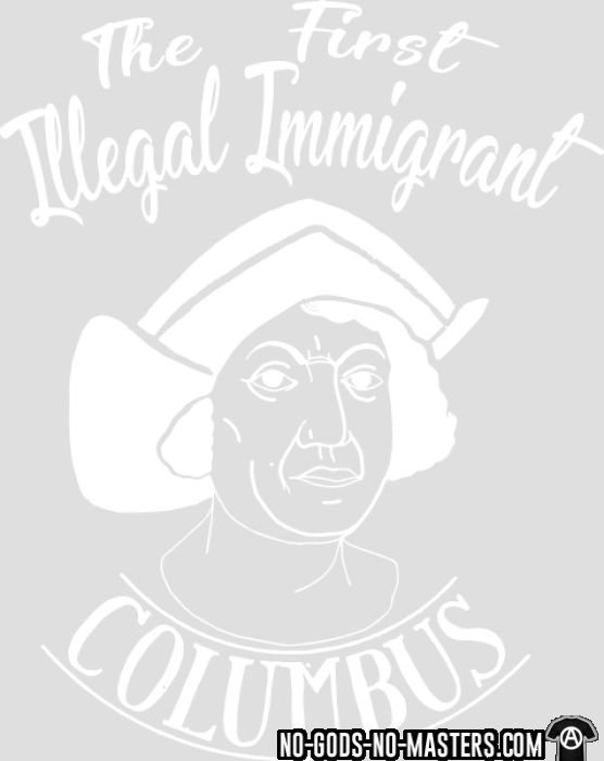 The first illegal immigrant - T-shirt Anti-Fasciste