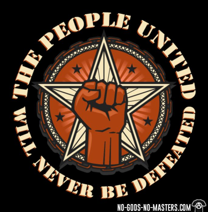 The people united will never be defeated - Sweat zippé Militant