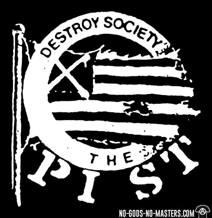 The Pist - Destroy society - T-shirt Band Merch