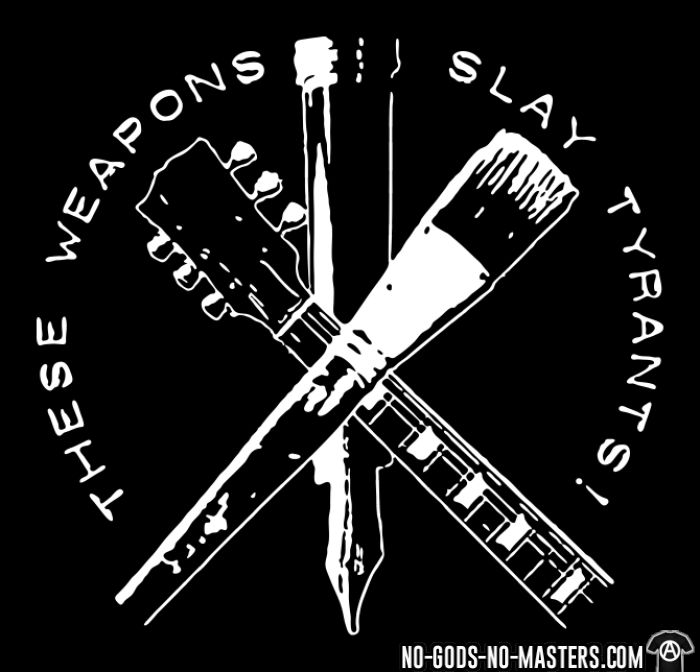 These weapons slay tyrants - Chandails à manches longues Militant