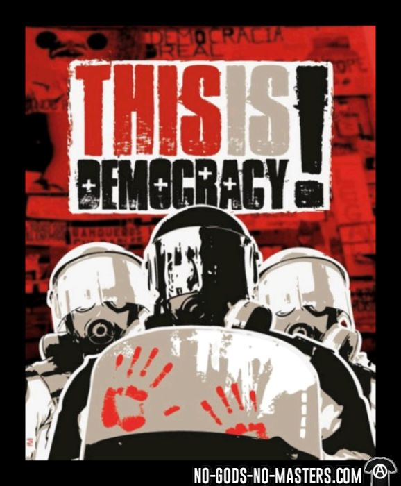 This is democracy! - T-shirt ACAB anti-violence-policiere