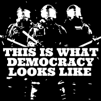 This is what democracy looks like - T-shirt ACAB anti-flic