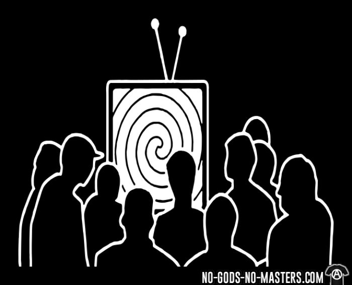 TV Brainwash - T-shirt Militant
