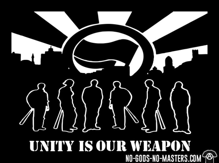 Unity is our weapon - T-shirt Anti-Fasciste