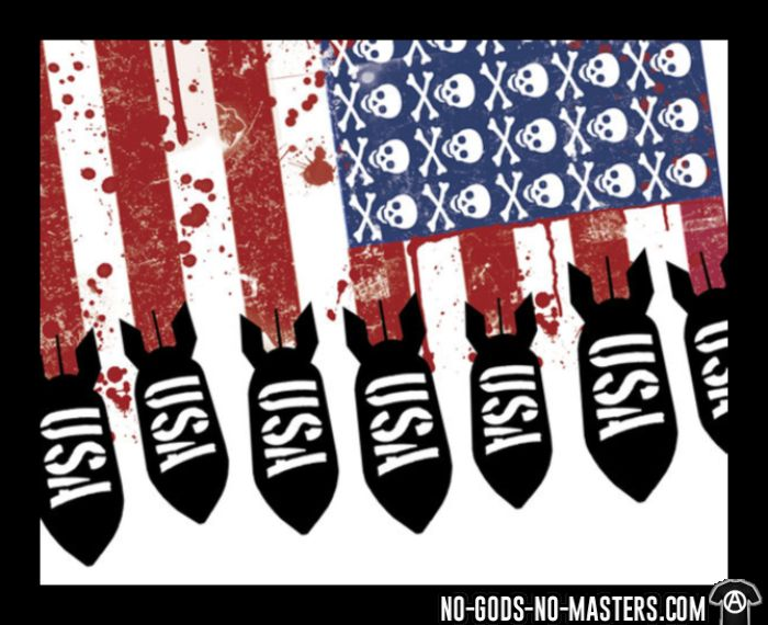 USA imperialism - T-shirt anti-guerre