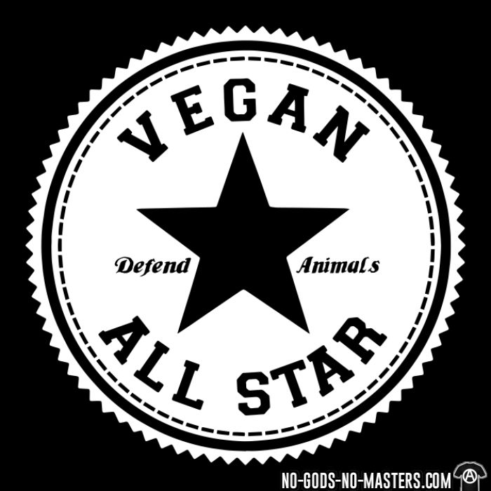 Vegan all star. Defend animals - T-shirt véganes et libération animale
