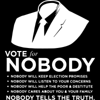 Vote for nobody - T-shirt Militant