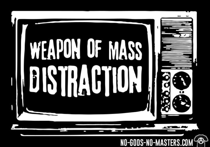 Weapon of mass distraction - T-shirt Militant