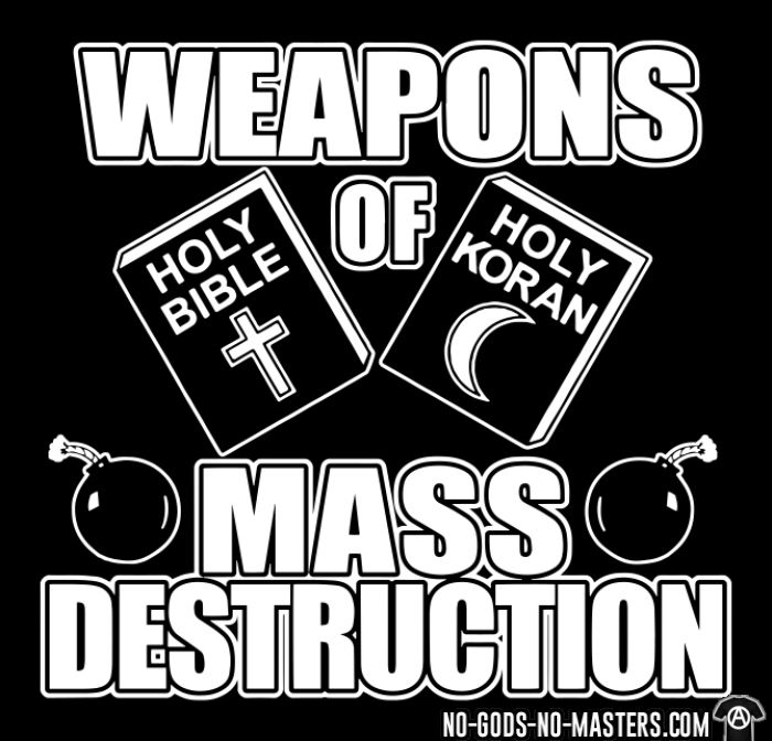 Weapons of mass destruction - holy bible holy koran - Débardeur pour homme Athé