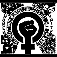 Women Unite - Solidarity with women's struggles all over the world - T-shirt Féministe