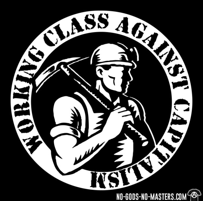 Working class against capitalism - Chandails à manches longues Working Class