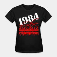 T-shirt féminin 1984 ignorance is strength war is peace