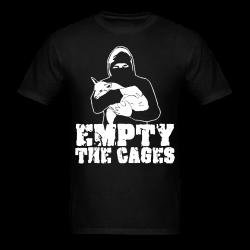 Empty the cages Animal liberation - Vegetarian - Vegan - Anti-specism - Animal cruelty - Animal testing - Animal liberation front - ALF - Vivisection - Animal experim