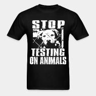 T-shirt standard unisexe Stop testing on animals