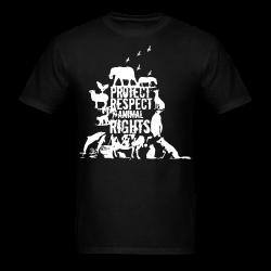 Protect respect animal rights Animal liberation - Vegetarian - Vegan - Anti-specism - Animal cruelty - Animal testing - Animal liberation front - ALF - Vivisection - Animal experim