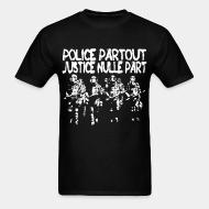 T-shirt standard unisexe Police partout justice nulle part