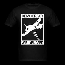 Democracy we deliver Anti-war - Peace - Palestine - Tibet - Anti-zionist - Anti-israel - Anti-militarism - Non-violence - Pacifism - Anti-imperialism - Anarchists Against