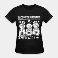 T-shirt féminin Nazis out of our streets - antifa