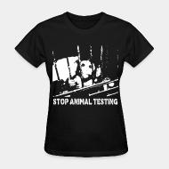 T-shirt féminin Stop animal testing