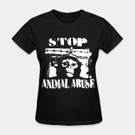 T-shirt féminin Stop animal abuse