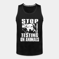 Débardeur homme Stop testing on animals