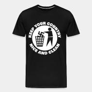 T-shirt Xtra-Large Keep your country nice and clean