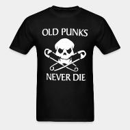 T-shirt standard unisexe Old punks never die
