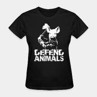 T-shirt féminin Defend animals
