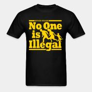 T-shirt Refugees welcome - no one is illegal