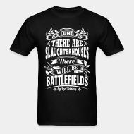 T-shirt As long as there are slaughterhouses there will be battlefields (Leo Tolstoy)