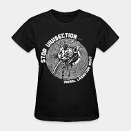 T-shirt féminin Stop vivisection - animal liberation now!!!