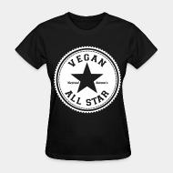 T-shirt féminin Vegan all star. Defend animals