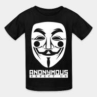 T-shirt enfant Anonymous. Expect us