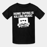 T-shirt enfant Home taping is killing music and it's illegal