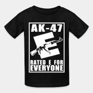 T-shirt enfant AK-47 - Rated E for Everyone